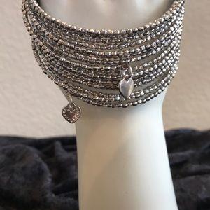 Stella & Dot Silver Coil Bracelet